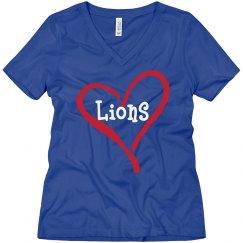 Heart Lions V-Neck