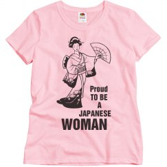 Proud Japanese woman