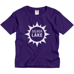 Youth Silver Lake t-shirt with Sun design