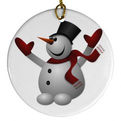 Jolly Holiday Snowman