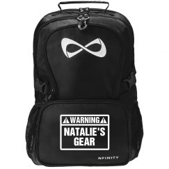 Warning Cheer Gear Black Nfinity Backpack