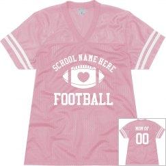 Football Mom Fan Jersey WIth Custom Text
