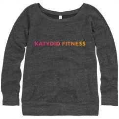Katydid Fitness Slouchy Wide neck Sweatshirt