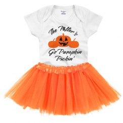Custom Family Pumpkin Pickin' Baby Onesie & Tutu
