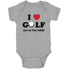 I Love Golf Onesie