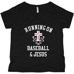 Funny Running On Jesus & Baseball