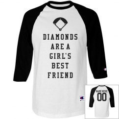 Diamonds Are A Girls Best Friend Cute Custom Jerseys