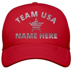 Team USA Silver Metallic Name Here