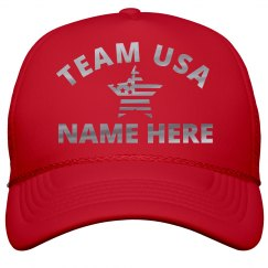 Team USA Silver Metallic Name Here