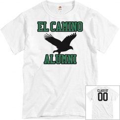 """EL CAMINO ALUMNI """"Class of"""" WHITE"""