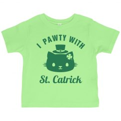 St Catricks Day Toddler Cat Puns