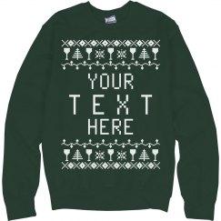 Custom Drinking Ugly Sweater