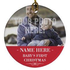 Custom Baby Name Christmas Design