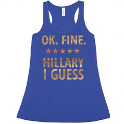 Hillary I Guess Metallic Tank