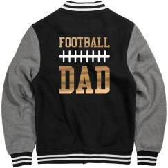 Metallic Gold Football Dad Jersey
