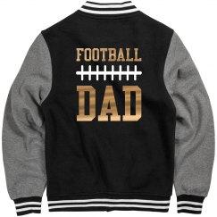 Metallic Gold Football Dad Jersey