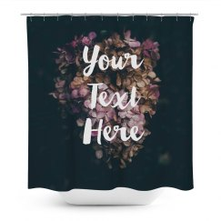 Flowers Custom Shower Curtain
