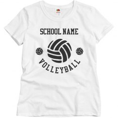 Personalized Team Name Volleyball Tee