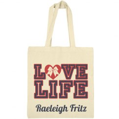 LOVE LIFE Cheer Tote Bag