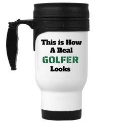 Real golfer