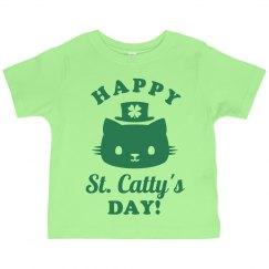 Happy St Cattys Day Green Kid