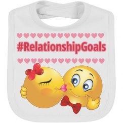 RelationshipGoals Emoji baby Bib