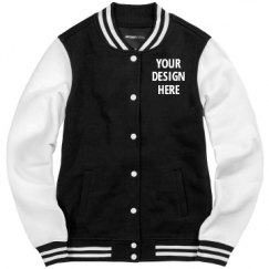 Ladies Fleece Letterman Varsity Jacket