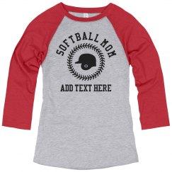 Custom Softball Mom Helmet