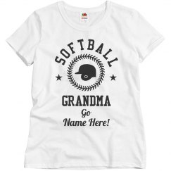 Custom Trendy Softball Grandma