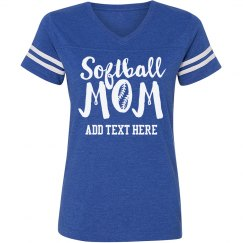 Custom Trendy Softball Mom
