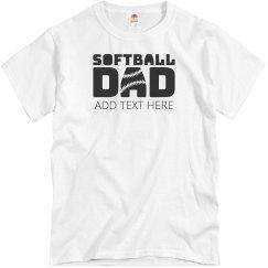 Custom Softball Dad Text