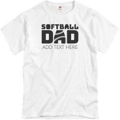 Custom Softball Dad Text