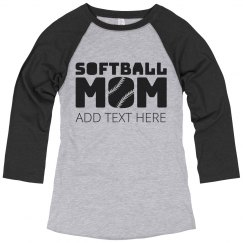 Softball Laces Mom Fan