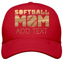 Gold Shiny Softball Mom
