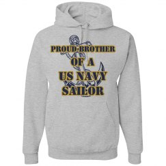 Navy Brother Hoodie w/ LN