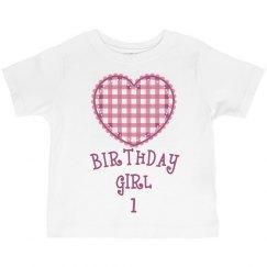Birthday girl is 1