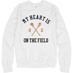 Metallic Lacrosse My Heart