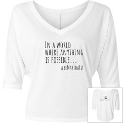 flowy shirt:  in a world where anything is possible....