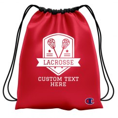 Custom Text Lacrosse Drawstring Bag