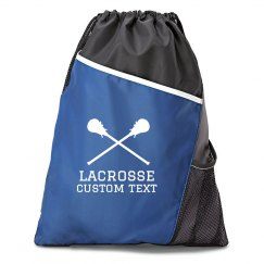 Lacrosse Custom Text Drawstring Bag