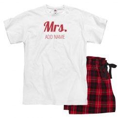 Custom Mrs. Christmas Pajamas
