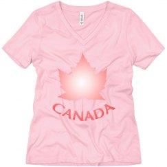 Canada Souvenir Shirts Pink Canada Maple Leaf T-shirts