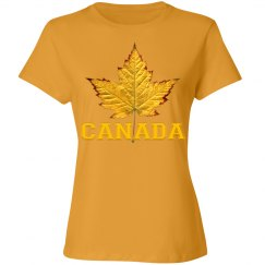 Canada T-shirts Varsity Maple Leaf Women's Canada Shirt