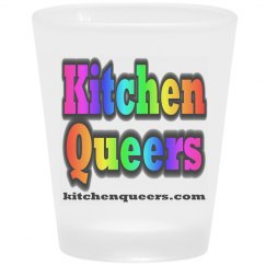 Kitchen Queers Rainbow Logo Frosted Shot Glass