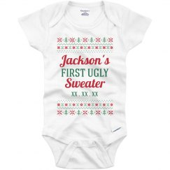 Ugly Sweater Baby Onesies
