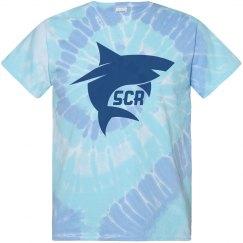 SCR Shark tie dye tshirt