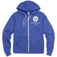 Unisex Fleece Zip Up Hoodie