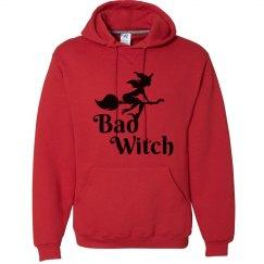 Bad Witch Halloween Hooded Sweatshirt