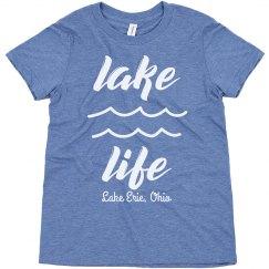 Lake Life Custom Youth Vacation Trip Triblend Tee