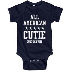 Baby Name All American Cutie Onesie